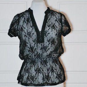 💰3/20$💰SEDUCTION All lace elastic waist blouse
